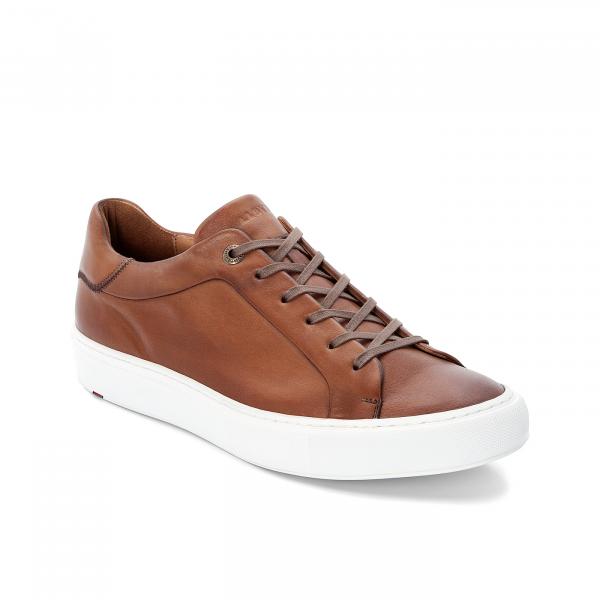 Lloyd Herren Business Sneaker weiß und cognac