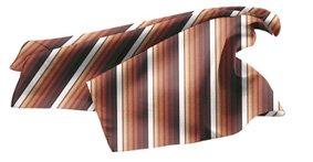 Tuch PES 70x70 cm Streifen Brauntöne