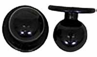 Kugelknöpfe - Kochjackenknöpfe Farbe: schwarz