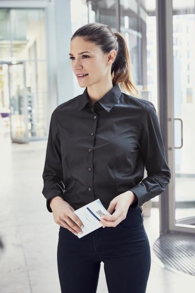 Women's Business Shirt langarm 60 Grad waschbar