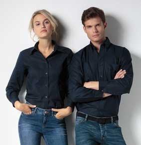 Workwear Oxford Bluse langarm KK361