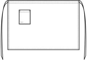 BLACK DENIM Bistro-Schürze LxB 80x100 cm