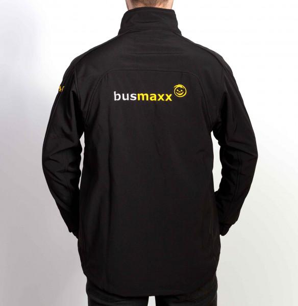 BusMaxx Herren Softshell JACKE Farbe: Schwarz