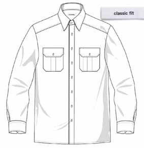 Diensthemd DAVID langarm Classic fit