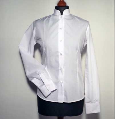 BAR Bluse mit Mandarin-Kragen langarm