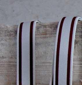 Hosenträger Lederpatten mit Leder-Rückenteil 36 mm breit gestreift