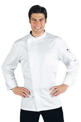 Herren Kochjacke BILBAO Microfaser langarm weiß 059318