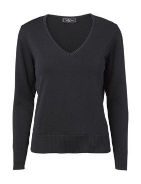 Damen Pullover V-Ausschnitt 100% Baumwolle 4111