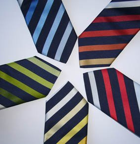 Krawatte Jacquard Streifen PES