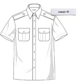 Pilothemd FRANK kurzarm Classic fit