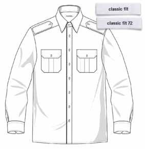 Pilothemd FRANK langarm Classic fit 72
