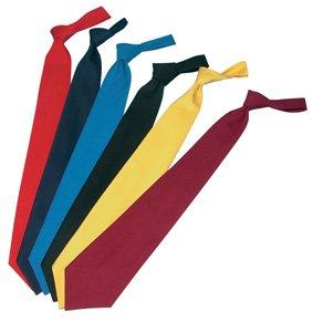 Krawatte Polyester/Baumwolle unifarben
