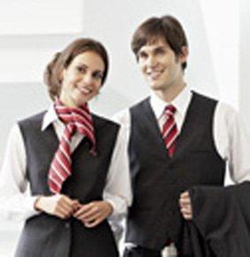 Krawatte PES Rottöne gestreift