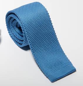 Strick Krawatte PES uni Breite ca. 5,5 cm