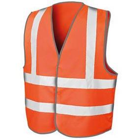 BusMaxx SICHERHEITSWESTE bedruckt in Fluorescent Orange