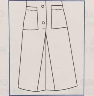 Hausmädchen-Kleid LIPARI 3/4 Arm bleu/weiß 007362