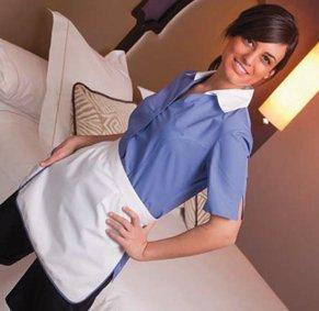Housekeeping Damen Kasack verdeckte Knopfleiste