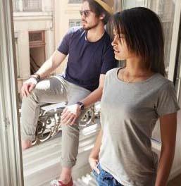 Damen BIO Baumwoll Basic-T-Shirt