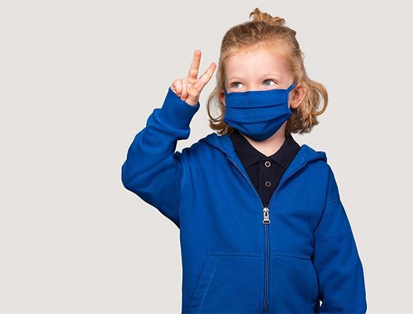 Kinder Mund- Und Nasenmaske farbig aus Micralinar (10er Pack)
