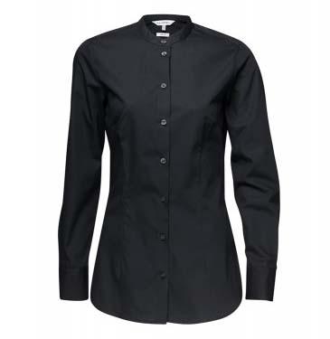 Bluse JUDI Langarm Classic fit 60% BW 40% PES