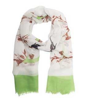 Leichter Schal grün/braun ca. 180 x 65 cm PES