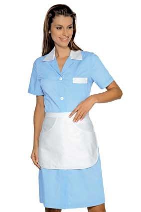 Hausmädchen-Kleid POSITANO 1/4 Arm hellblau 008910G