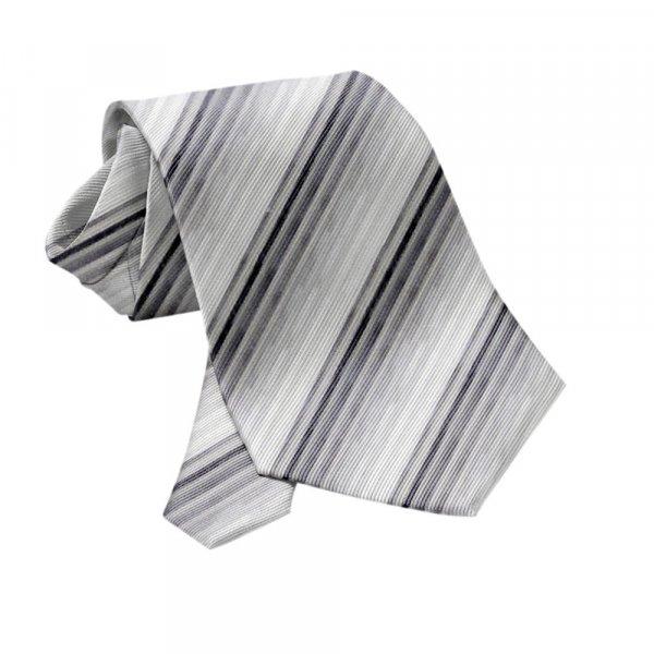 Krawatte PES Grautöne gestreift