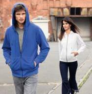 Sweat-Jacke mit Kapuze und Reißverschluss BIO-ZIP HOODY