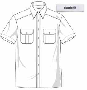 Diensthemd DAVID kurzarm Classic fit