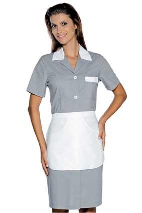 Hausmädchen-Kleid POSITANO 1/4 Arm grau 008912G