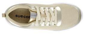 Sneaker ALMA Farbe gold und bordeaux ULTRA LEICHT