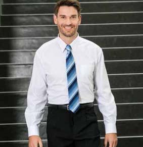 Baumwoll-Stretch Herren Hemd langarm weiß