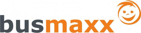 BusMaxx Strick SCHAL gestreift in Orange mit Anthrazittönen