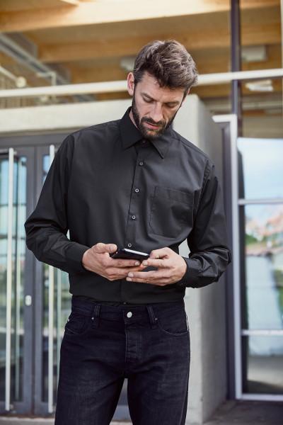 Men's Business Shirt langarm 60 Grad waschbar