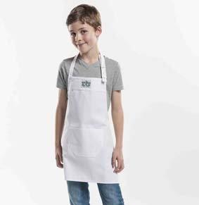 Kinderlatzschürze WHITE LxB 55x50cm 130/551