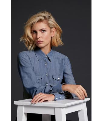Denim Jeans Bluse langarm JN628