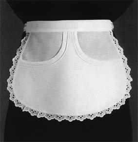 Servierschürze mit Rundbiesen L25 cm Farbe Weiß