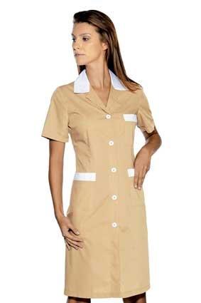 Hausmädchen-Kleid POSITANO 1/4 Arm beige 008915G