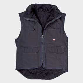 Workwear Winter-Weste mit Webpelzfutter