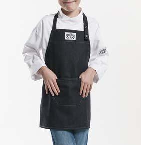 Kinderlatzschürze BLACK DENIM LxB 55x50cm 130/677