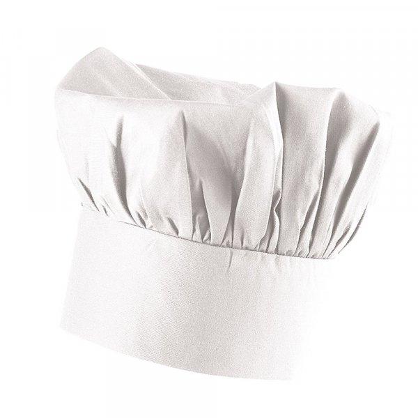 Bistrokochmütze 9 cm hoch in weiß