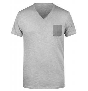 Herren BIO Slub-T-Shirt im Vintage-Look 8102/8016