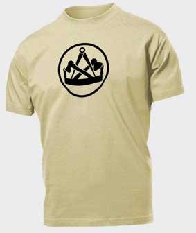 T-Shirt beige mit Tischler Zunftzeichen