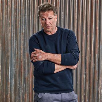 Premium-Sweatshirt mit Rundhalsausschnitt 8522 J013M