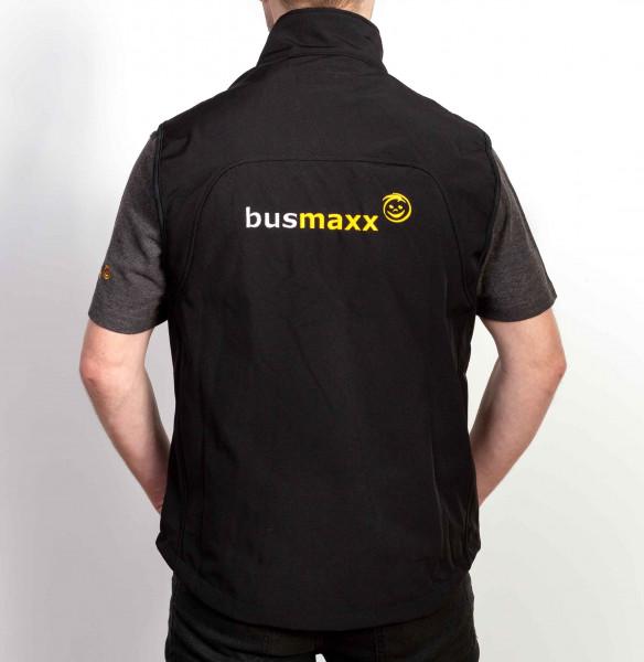 BusMaxx Herren Softshell WESTE Farbe: Schwarz