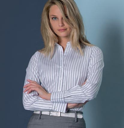 Bluse Stretch langarm Regular Fit