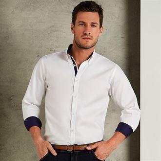 Premium Oxfordhemd mit Kontrast langarm Button Down KK190
