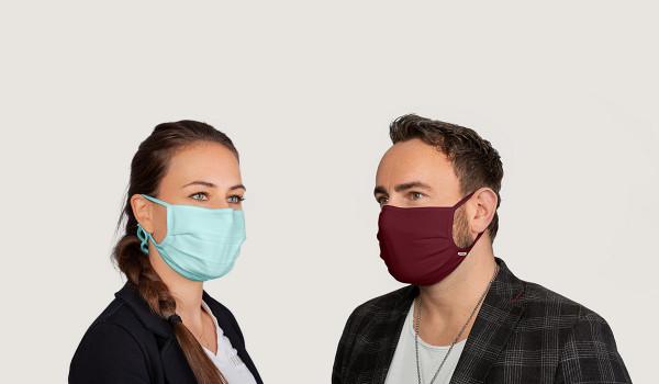 Mund- Und Nasenmaske farbig aus Micralinar (10er Pack)